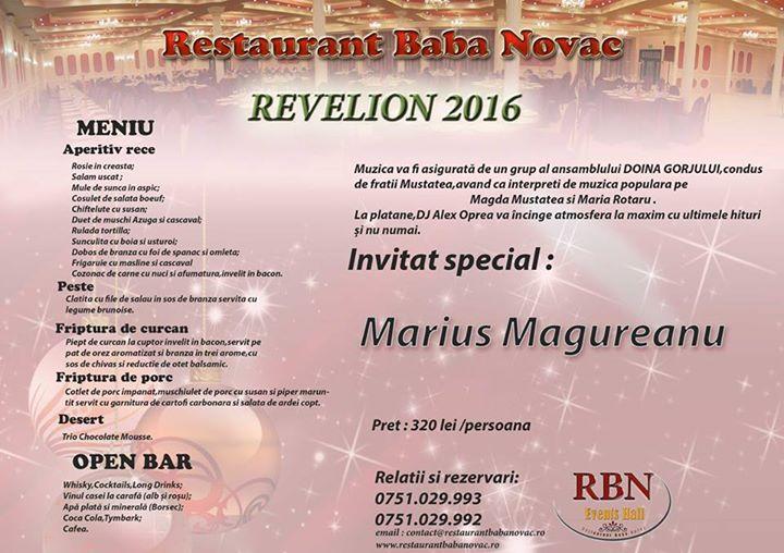 Revelion 2016 Restaurant Baba Novac Craiova