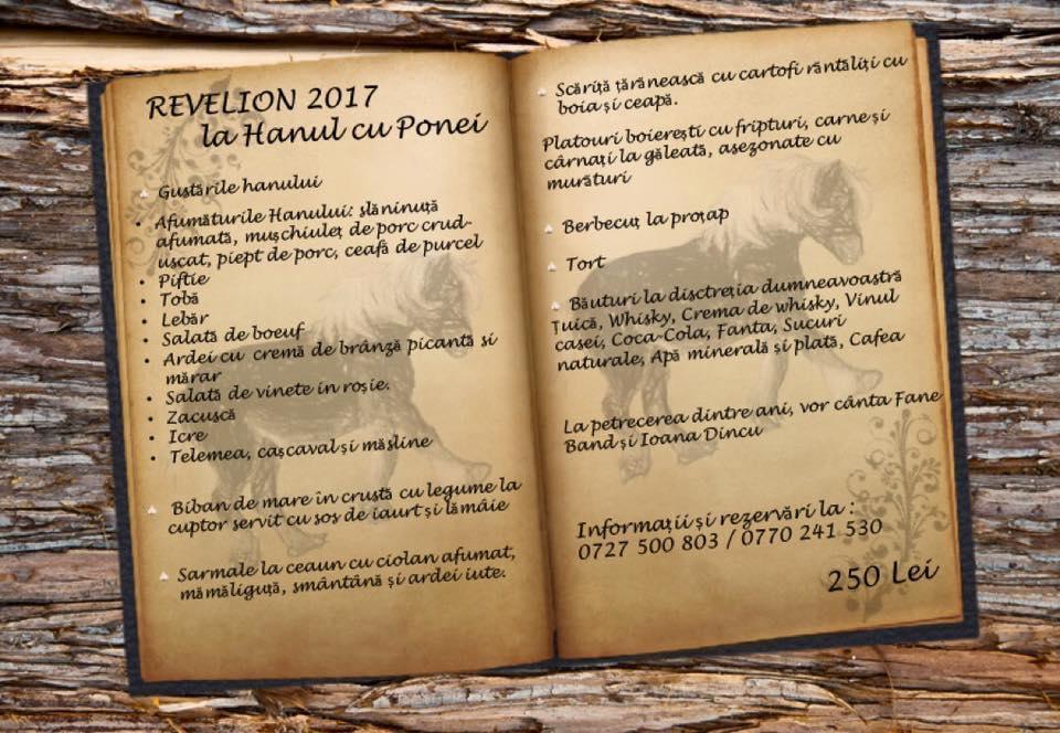 Revelion Craiova 2017 la Hanul cu Ponei