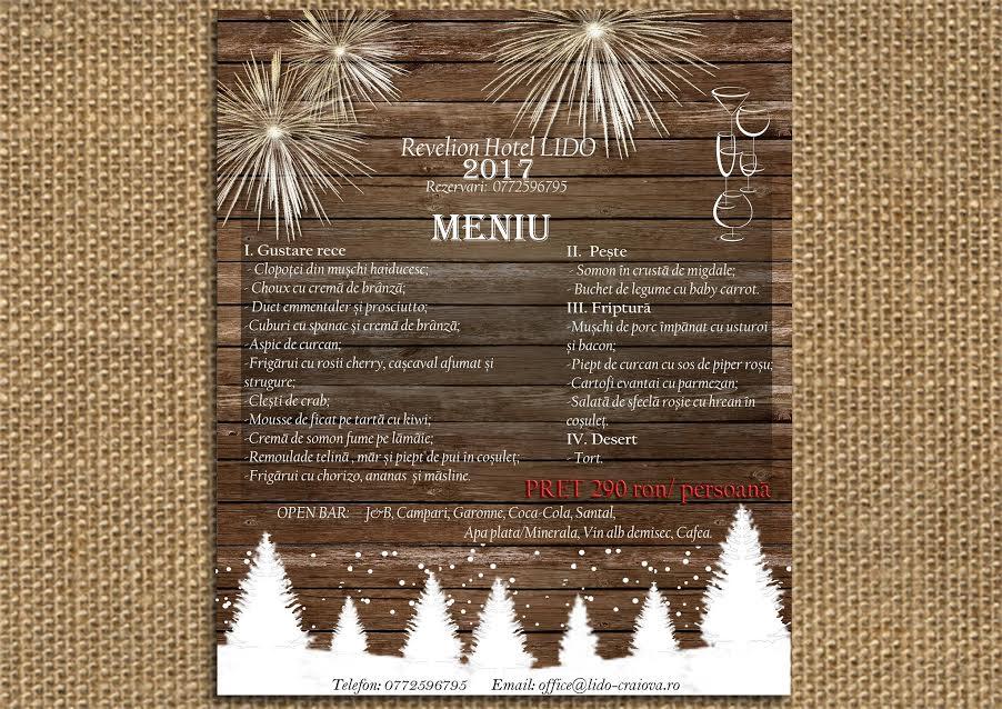 Meniu Revelion 2017 Craiova Hotel Restaurant LIDO