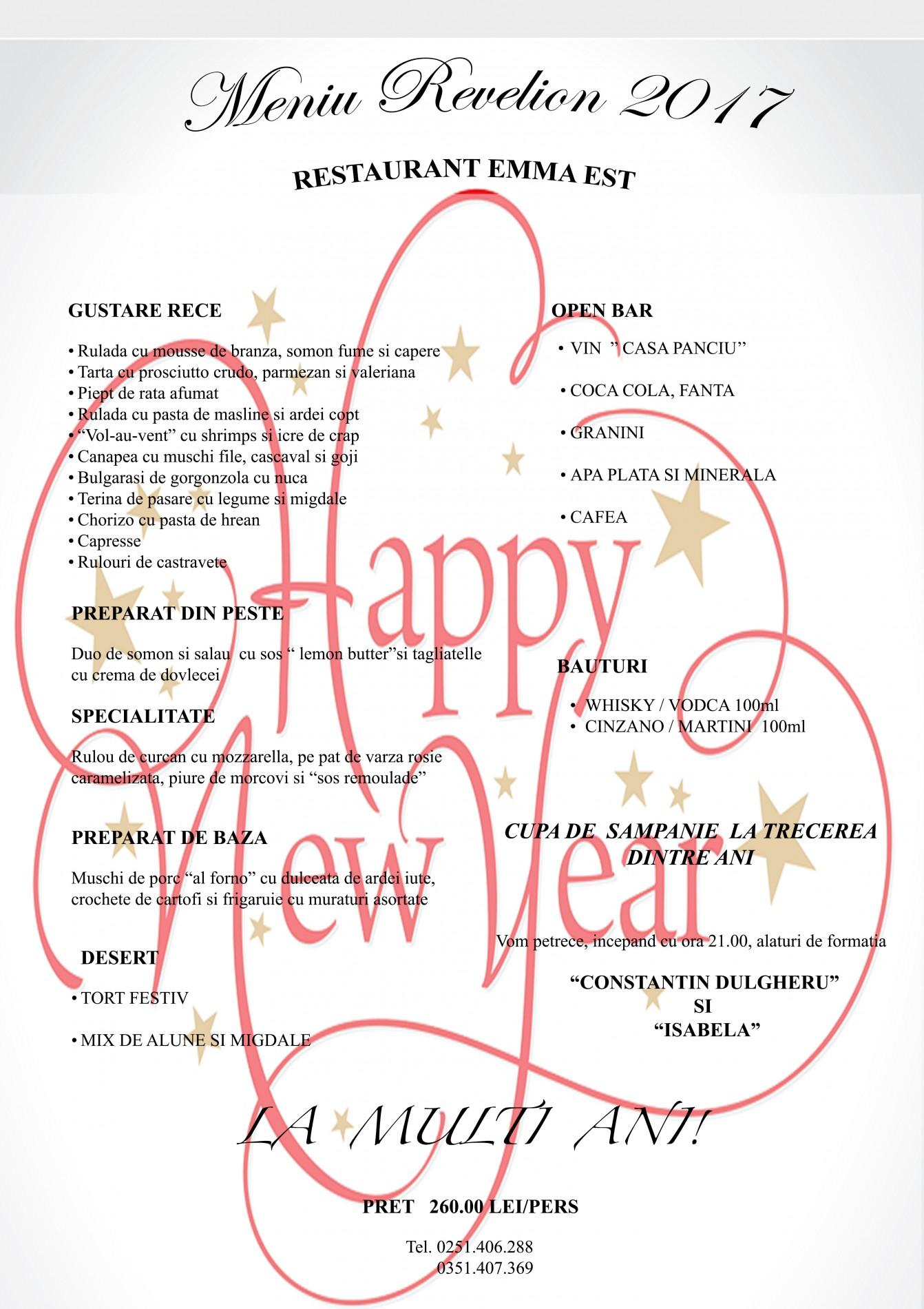 Revelion Craiova 2017 Restaurant Emma Est