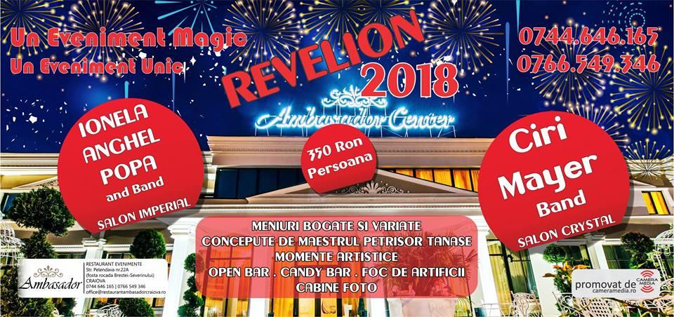 Revelion 2018 Restaurant Ambasador din Craiova