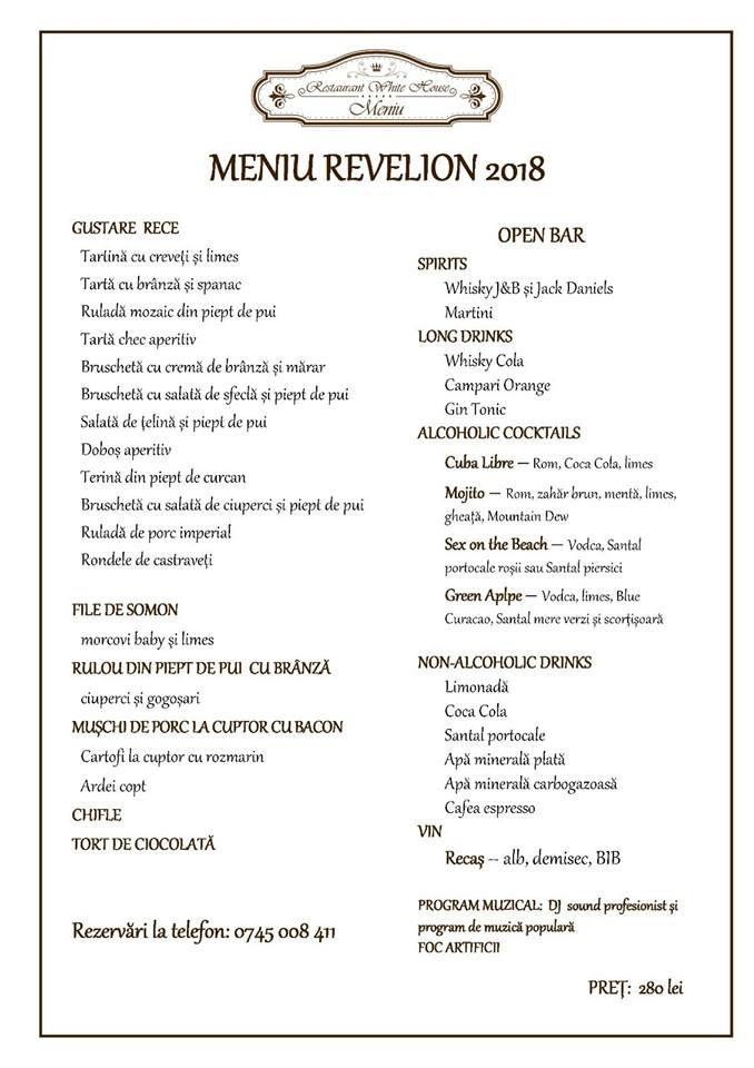 Revelion Restaurant White House Craiova 2018